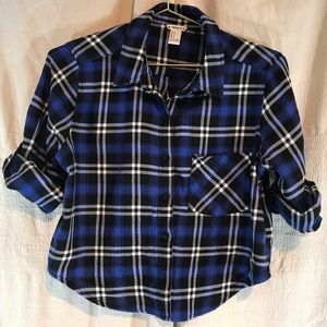 Forever 21 Blue and Black flannel